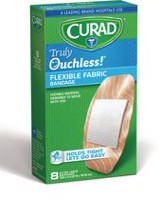 "Curad Truly Ouchless Flexible Extra Large 1.65"" x 4"" Fabric Bandage"