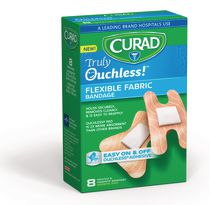 Curad Truly Ouchless Flexible Fabric Knuckle and Fingerprint Bandage