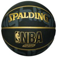 Ballon de basket-ball en caoutchouc Spalding NBA Highlight de 29,5 po