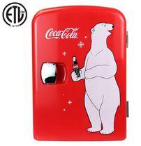 Coca-Cola 6 Can AC/DC Electric Cooler Fridge (4.2 Quarts/4 Liters)