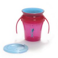 Wow Cup Juicy Baby Spill Free Pink Training Cup
