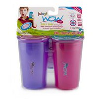 Wow Cup Juicy Spill Free Pink Drinking Cups
