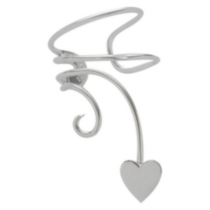 Sterling Silver Heart Ear Wrap