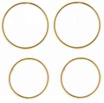 10 karat Yellow Gold Sleeper Hoop Earrings (2 pairs)