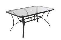 COSCO Outdoor Living Paloma Patio Dining Table, Dark Gray Steel Frame
