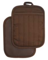 Hometrends Potholder with Silicone Brown