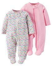 Grenouillère Sleep n Play de Child of Mine made by Carter's pour filles, paq. de 2 NN