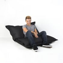 Lounge Black Rectangular Bean Bag Cover