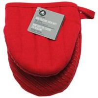 hometrends Mini Silicone Oven Mitt Red