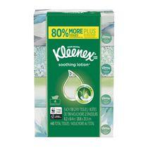 Mouchoirs Kleenex Soothing Lotion, 110 mouchoirs par boîte plate, paquet de 4 (total de 440 mouchoirs)