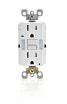 Leviton SmartlockPro GFCI with guide-light, white