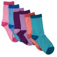 George Girls Cotton Blend Crew Socks