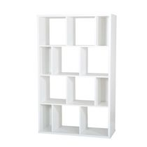 South Shore Reveal Shelving Unit with 12 Compartments, Pure White