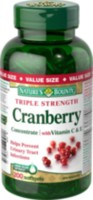 Nature's Bounty Triple Strength Cranberry with Vitamin C & E Value Size 200 Softgels