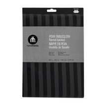 Home Trends PEVA tablecloth 52x70 60in x 84in Black/Grey