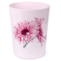 Home Trends Waste Basket - Gerber Daisy