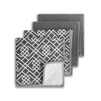 Mainstays 4pk Grey Dish Cloth Scrubbers