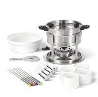 Starfrit 20-Piece 3 in 1 Fondue Set with Magnetic Fork Guide<br>     <br><br><br>         <br><br><br><br><br><br>Starfrit 3 in 1 Fondue Set - 20 pieces - Magnetic fork guide