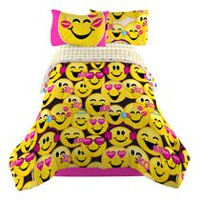 "Emoji ""Happy Happy"" Twin/Full Comforter"