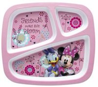 Minnie Bowtique 3-Section Plate