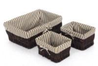 set of 3 willow and woodchip baskets