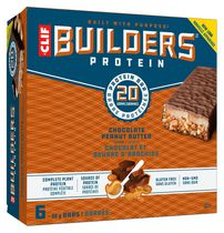 Clif Builder's Protein Bar, Chocolate Peanut Butter, 68g, Non-GMO Bar, 6 Ct