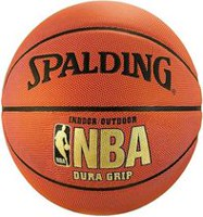 Ballon de basket-ball Dura Grip de Spalding NBA en cuir composite