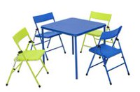 Kid's Folding Table & Chair Set Blue/Green