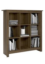 Dorel Bailey 9 Cube Storage Bookcase Rustic Oak