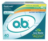 o.b. Non-Applicator Regular, Super and Super Plus Absorbancies Tampons Multi Pack