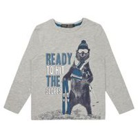George British Design Boys' Polar Bear Long Sleeve T Shirt 12