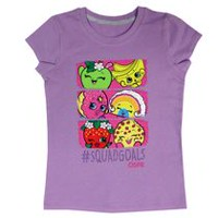 Shopkins Girls' Short Sleeve Tee Shirt XS