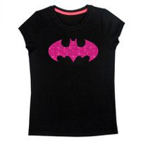 Batman Girls' Short Sleeve Tee Shirt M