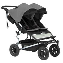 Mountain Buggy Duet Double Stroller Gray