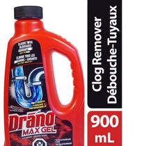 Drano Max Gel Drain Cleaner and Clog Remover, 900ml