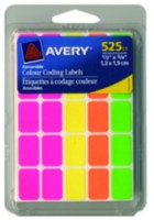 "Avery® Removable Colour Coding Labels 06721, 1/2"" x 3/4"""
