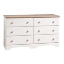 Bureau South Shore, collection Summertime, fini érable naturel et blanc solide