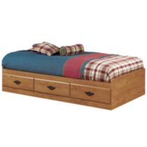 South Shore Prairie Collection Twin Size Country Pine Mates Bed