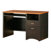 South Shore Gascony Collection Computer Desk, Ebony and Spice Wood Finish