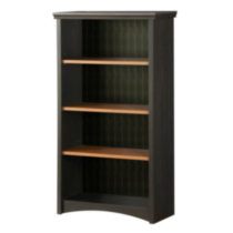 South Shore Gascony 4-Shelf Bookcase Black