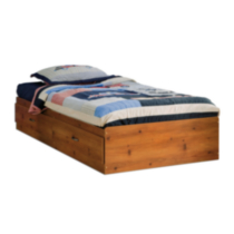 South Shore Logik Twin Mates Bed (39'') with 2 Drawers Pine