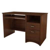 South Shore Gascony Computer Desk with Keyboard Tray Cherry