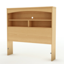 South Shore Soho Collection Twin Size Natural Maple Bookcase Headboard
