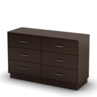 South Shore Logik 6-Drawer Double Dresser Chocolate
