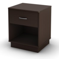 South Shore Logik 1-Drawer Night Stand Chocolate