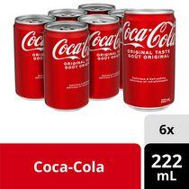 Coca-Cola 222mL Canettes, paquet de 6