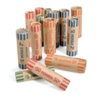 Container Assorted Paper Coin Wrap
