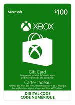 Xbox Live Gift Card $100 CAD Digital Download