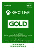 12 Month Xbox Live Gold Membership Digital Download