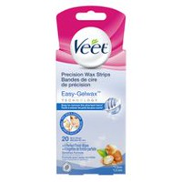 Veet® Face Bikini and Underarm Easy Grip Sensitive Formula Wax Strips